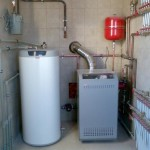 Газовый котел установленный в частном доме