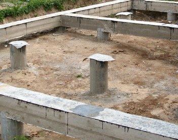 Где применяют столбчатый фундамент