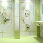 Керамическая плитка для ванной комнаты с изображением