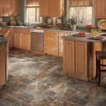 Керамогранит в кухне на полу