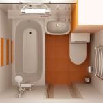 Компактное размещение сантехники в ванной 5 кв.м.