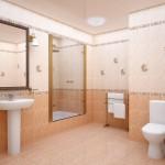 Красивая ванная созданная из одной коллекции плитки