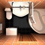 Красивый дизайна ванной комнаты 5кв.м.