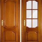 Красота оттенка деревянной двери