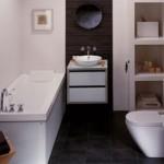 Маленькая ванная комната размером в 5 кв м и ее планировка