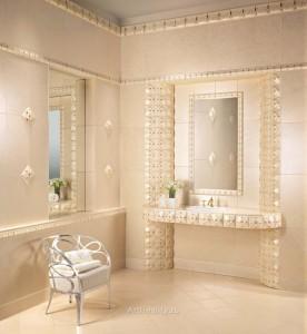 Однотонная керамическая плитка для ванной