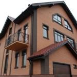 Остекление двухэтажного загородного дома