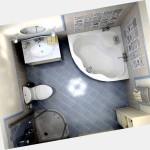 Планировка и дизайна ванной площадью 5 кв.м.