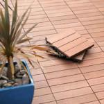 Плитка из древесно-полимерного материала