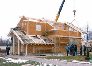 Проходит строительство частного дома