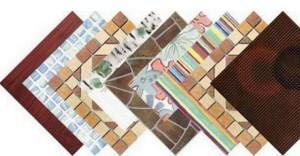 Разнообразие цветов керамической плитки