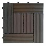 Садовая плитка из ДПК темного цвета