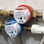 Счетчики на воду установленные в системы водопровода