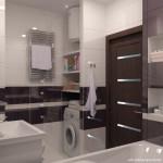 Стильный дизайн и планировка ванной комнаты 5 кв.м.