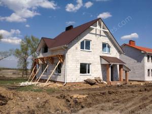 Строительный процесс загородного дома