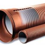 Структура пластиковых труб для дренажа