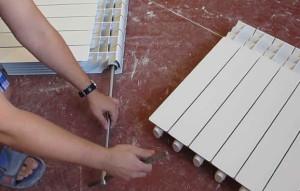 Установка радиатора из алюминия