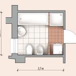 Вариант планировки ванной 5 кв.м.