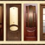 Варианты межкомнатных деревянных дверей