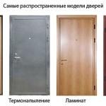 Входные двери с разной отделкой