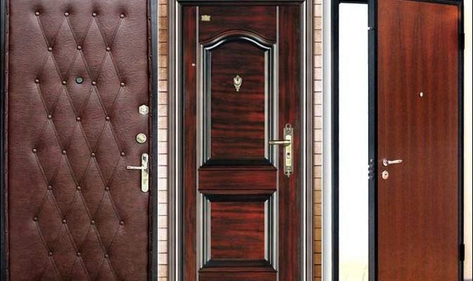 Виды металлических входных дверей по материалу отделки