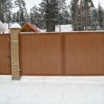 Ворота для дома распашного типа