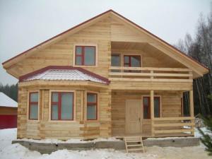 Дом из бруса построенный своими руками
