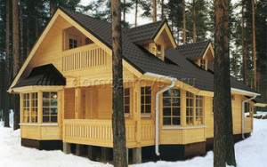 Красивый проект дома из бруса