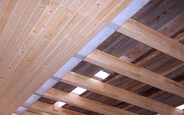 Обустройство потолка и крыши бани