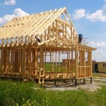 Процесс возведения каркасного дома