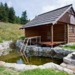 Расположение деревянной бани