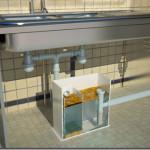 Сепаратор жира или жироуловитель для установки под мойкой