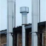 Современный дымоход из нержавеющей стали