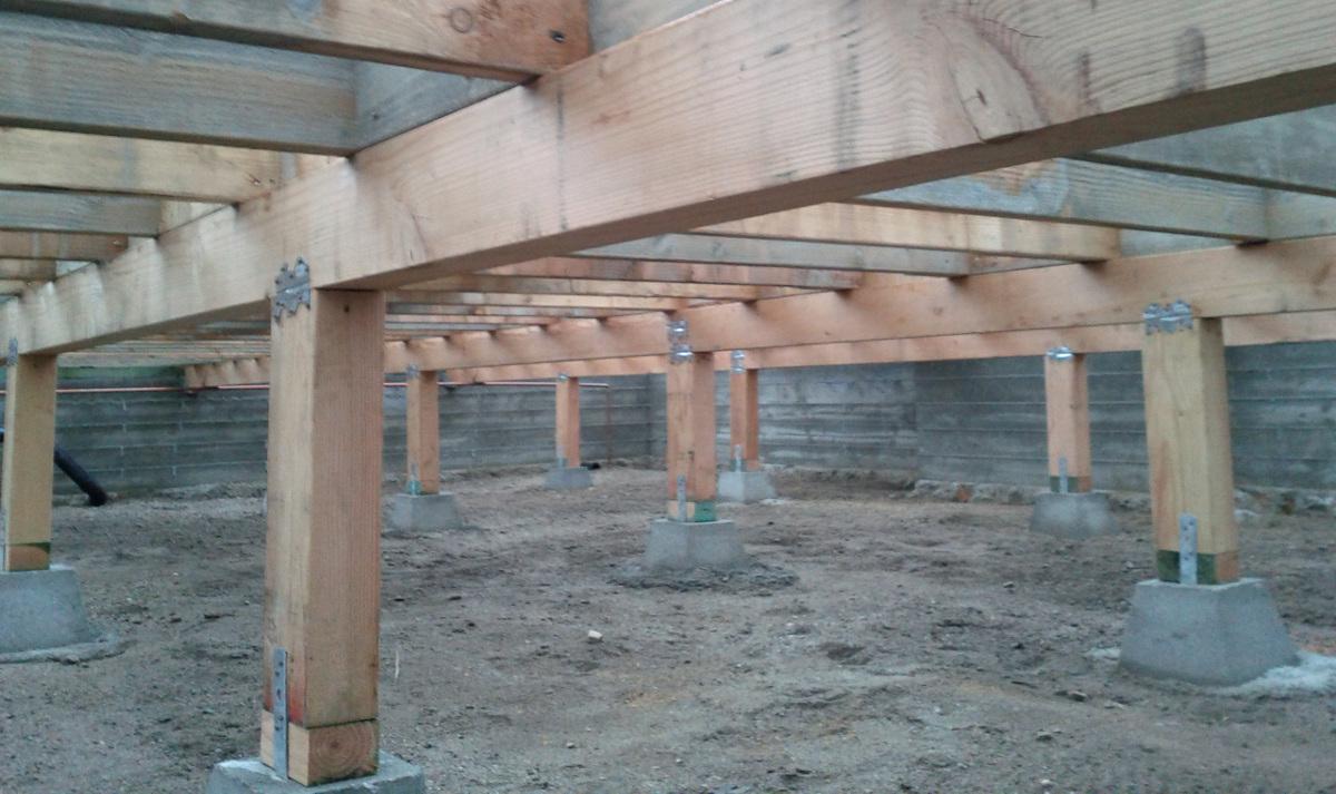 Столбчатый фундамент для веранды к дому своими руками