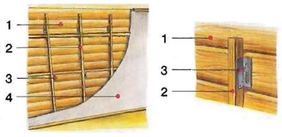 Установка каркасных перегородок в свежий сруб