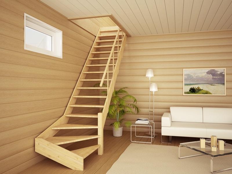 Как сделать в доме лестницу фото