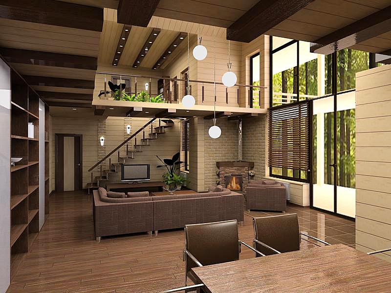 Дизайн интерьер домов и коттеджей фото