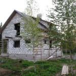Дом на основе пеноблока