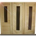 двери из липы для бани и их качества
