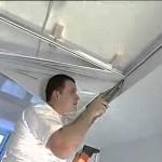 Как происходит монтаж натяжных потолков