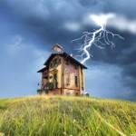 Как защитить дом от грозы