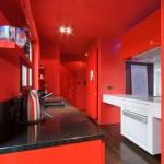 Однот онная красная кухня