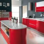 Особенности оформления красной кухни