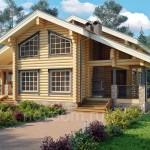 Практичный дом из бревна