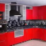 Современная красная кухня