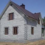 Внешний вид дома из пеноблока