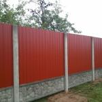Забор из профнастила можеть иметь разные цвета