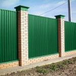Забор из профнастила с столбами