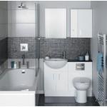 Темный интерьер для ванной комнаты