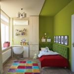 Оригинальная планировка детской комнаты